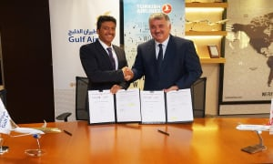 Gulf Air and Turkish Airlines Sign a Codeshare Agreement