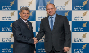 Mr. Krešimir Kučko, Gulf Air Chief Executive Officer and Captain Suhail Abdulhameed Abdulaziz Ismail, the airline's new Chief Operating Officer